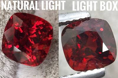 GIL Certified,Unheated Red 1.86 ct Natural Spinel from Burma