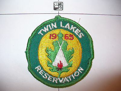 1965 Camp Twin Lakes Council Reservation,YEL Bkgd,pp, OA 244 Day Noomp,61,635,WI