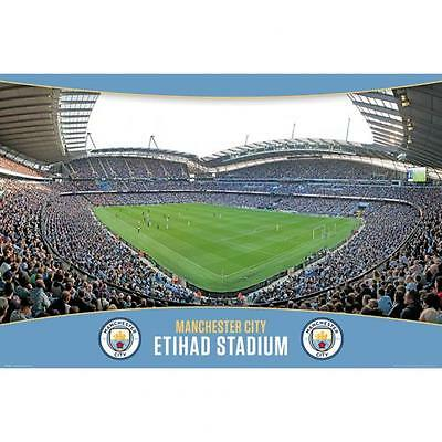 Manchester City F.C. Poster Stadium 7 Official Merchandise (New Badge)
