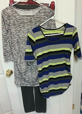 Maternity pants and two shirts gray Motherhood Maternity size small medium
