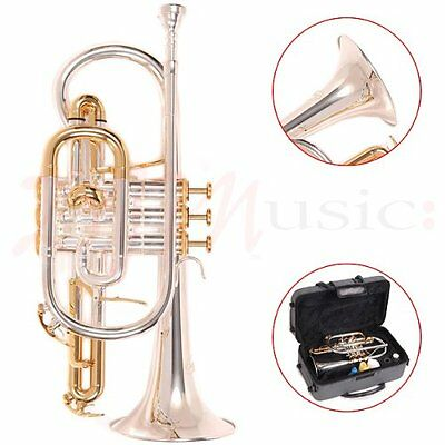 Odyssey Bb Silver Plated Cornet Outfit with Case
