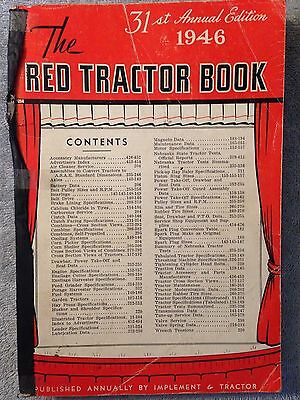 1946 RED TRACTOR BOOK Implement & Tractor business farm industrial equipment
