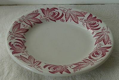 1952  Flower & Leaf Sterling Restaurant China Plate 6 3/4 Inch Bread Plate
