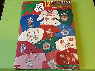 MAXWELL HOLIDAY GIFT PACK 12 Color Iron On Transfers Designs by Julie's Journey