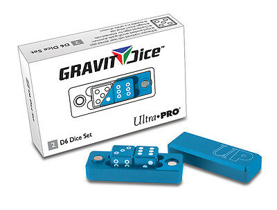 Gravity Dice D6 - 2 Dice Set Gravity Dice - Cobalt UPI 84872