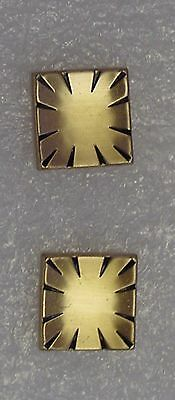 Vintage SWANK Gold Colored  Cuff Links Concave With Indentations