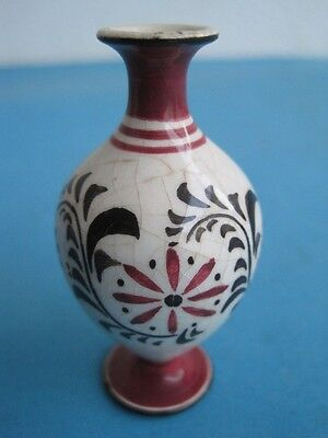 Antique small Hand Made faience  jar/vase  Aleluia Aveiro Portugal