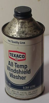 Texaco All-Temp Winshield Washer 12 Fluid OZ. Conetop Tin Advertising