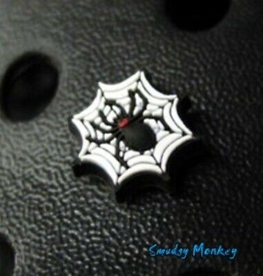 Halloween Black Widow SPIDER Web Authentic Genuine Jibbitz Crocs Shoe Charm NEW