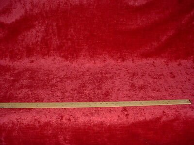 2+Y Colefax Fowler Beautiful Berry Red Linen Heavy Velvet Upholstery Fabric