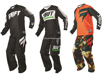 Shift MX Racing 2016 Recon Pant Jersey Combo Motocross Over-The-Boot Trail ATV