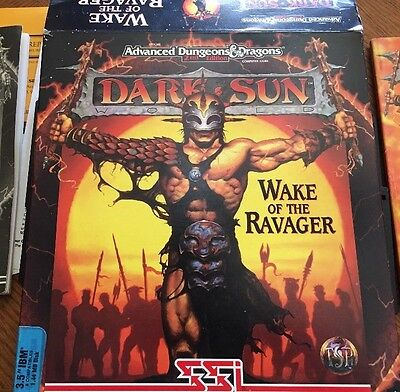 AD&D DARK SUN WAKE OF THE Ravager 3.5 Inch IBM Disks