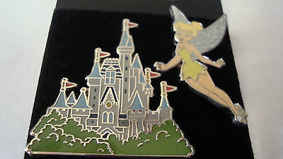 Tinkerbell and Castle Pin on Original Card 2 pin set