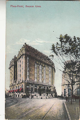 BF95.Vintage Postcard. The Plaza Hotel, Buenos Aires. Argentina