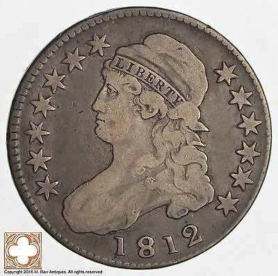 1812 Capped Busted Half Dollar *8389