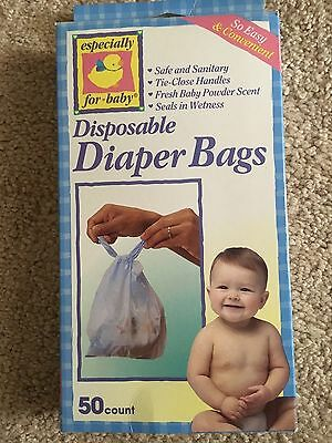 NEW ESPECIALLY FOR BABY Disposable Diaper Bags 50 count