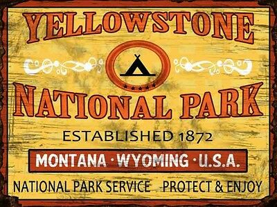 Yellowstone National Park Metal Sign