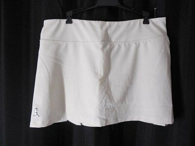 PING Golf Skorts sz Large white pleated back NEW NWT