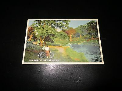 Leicester Bradgate Park. Postcard.cycling Interest.