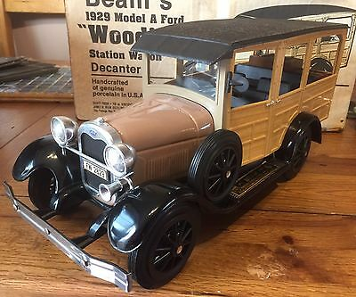 """Jim Beam 1929 Model A Ford """"Woodie"""" Station Wagon Decanter"""