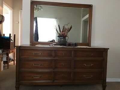 Bedroom Set, Mid-Century, Solid Wood, White Furniture Co., 5 piece