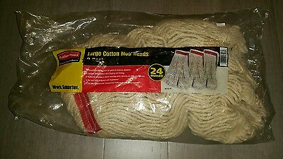 1 Rubbermaid D113 Cotton Looped End Wet Mop Head