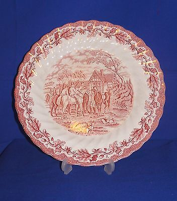 """Myotts """"Country Life"""" White & Red Coloured DINNER Plate 10"""""""