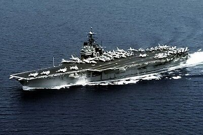 New 5x7 U.S. Navy Photo: USS SARATOGA (CV-60), Forrestal Class Supercarrier