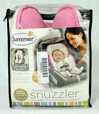 "Summer Infant ""Snuzzler"" Support System  White / Pink  Reversible NEW"
