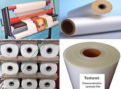 """6mil Matte Textured Polypro UV Laminate Clear Self-Adhesive Roll PP 38"""" x 150'"""