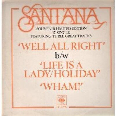 "SANTANA Well All Right 12"" VINYL 3 Track Souvenir Limited Edition B/W Life Is A"