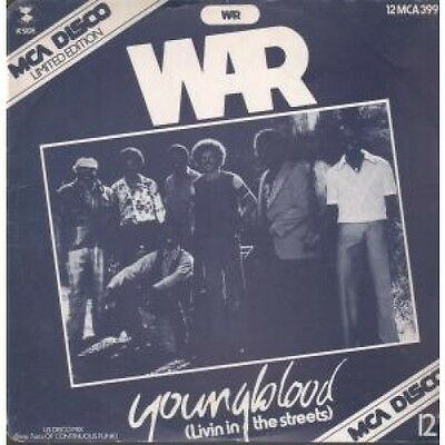 "WAR Youngblood 12"" VINYL 2 Track Limited Edition B/w Keep On Doin' (12mca399)"