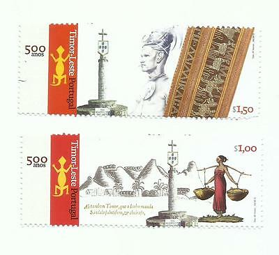 East Timor 2015 - 500 Years Portugal / East Timor set MNH BUT $1.50 damged