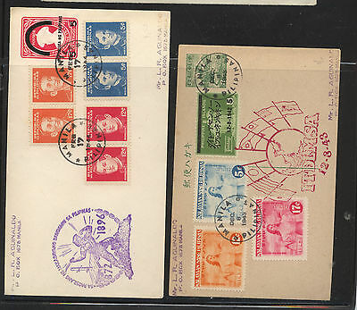 Philippines  Japan occup  postal card  and  enveleope    MS0220