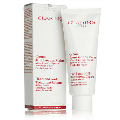 Clarins Hand and Nail Treatment Cream Softens Hands Strengthens Nails 100ml