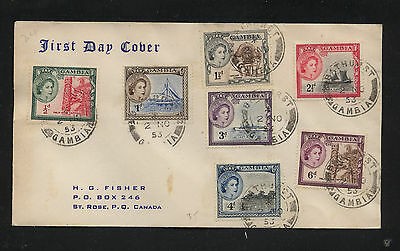 Gambia  first day  cover  1953           KL0303