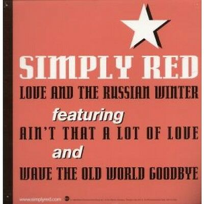 "SIMPLY RED Love And The Russian Winter CARD 12"" X 12"" Promotional Double Sided"