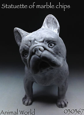 French bulldog figurine dog marble chips Souvenirs Russian Art Home Decor