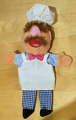 The MUPPETS SHOW SWEDISH CHEF JIM HENSON SOFT HAND PUPPET TOY DISNEY 35cm