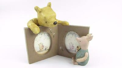Disney Michel and Company Ceramic Pooh Bear and Piglet Picture frame
