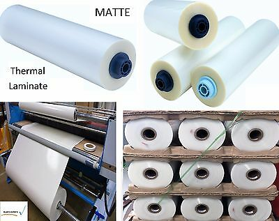 """3mil Matte Clear Thermal Heat Activated Laminate Polyester Film Roll 43"""" x 250ft"""