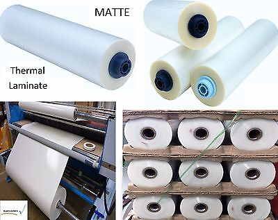 """3mil Matte Clear Thermal Heat Activated Laminate Polyester Film Roll 38"""" x 250ft"""