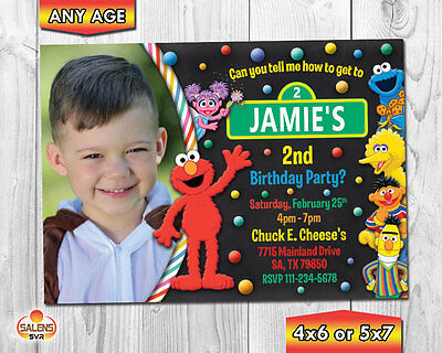 Elmo Photo Birthday Party Invitation