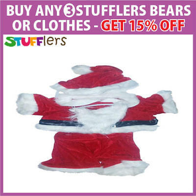 Santa Claus Christmas Clothing Outfit by Stufflers – Will fit on a Build a bear