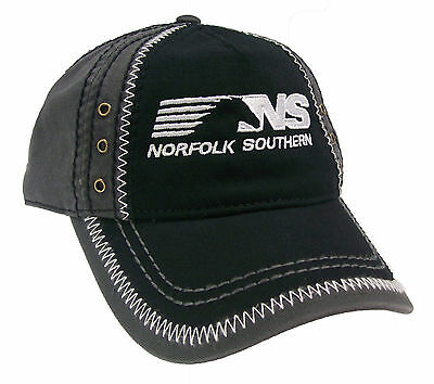 Norfolk Southern Railroad Embroidered Thoroughbred Zig Zag Cap Hat #40-0068ZBG