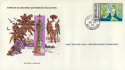 L0349venA5lc Stamps of All Countries - Seychelles fdi cover