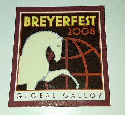 Breyerfest 2008 GLOBAL GALLOP White Andalusian Graphic Design Horse Magnet