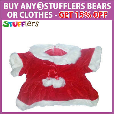 Mrs Claus Christmas Clothing Outfit by Stufflers – Will fit on a Build a bear
