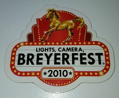 2010 LIGHTS, CAMERA, BREYERFEST Gold Ethereal Graphic Design Horse Magnet
