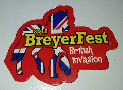 Breyerfest 2012 BRITISH INVASION Friesian Flag Graphic Design Horse Magnet